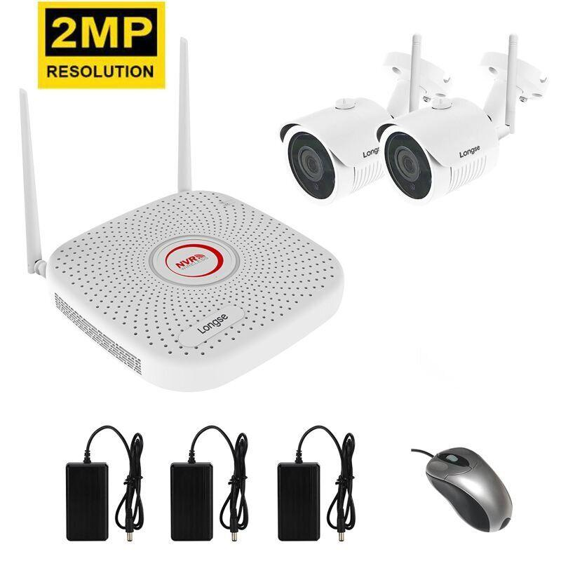Комплект видеонаблюдения беспроводной на 2 камеры Longse WIFI 3604-2Mp Kit 2, 300 метров, 2 Мегапикселя, FullHD 1080P