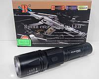 Фонарик ручной Bailong Police BL-1902-T6 от аккумулятора 18650, пять режимов, 800м, Zoom, 50000W, тактические фонари
