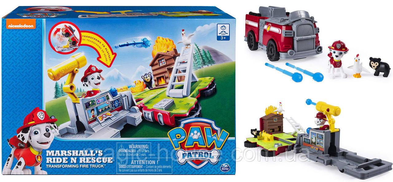 Paw Patrol Щенячий Патруль Маршал на пожарной машине трансформере ОРИГИНАЛ от spin master