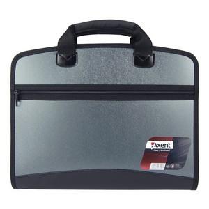 Портфель А4 на 4 відділення AXENT, сірий металік