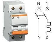 Автоматический выключатели Schneider Electric (полюс+нейтраль)