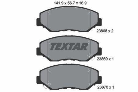 Тормозные колодки дисковые HONDA / HONDA CR-V II (RD_) / HONDA 2001-2015 г.