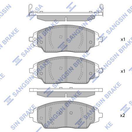 Тормозные колодки CHEVROLET AVEO седан (T300) / CHEVROLET / CHEVROLET COBALT 2011- г.