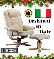 Массажное кресло с подогревом REGOline белое