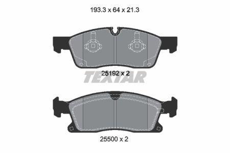Тормозные колодки дисковые MERCEDES-BENZ M-CLASS (W166) 2011-2015 г.