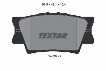 Тормозные колодки дисковые TOYOTA RAV 4 III (_A3_) / LEXUS ES (_Z10_) 2005-2018 г.