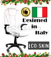 Офисное массажное кресло BRUNO белый