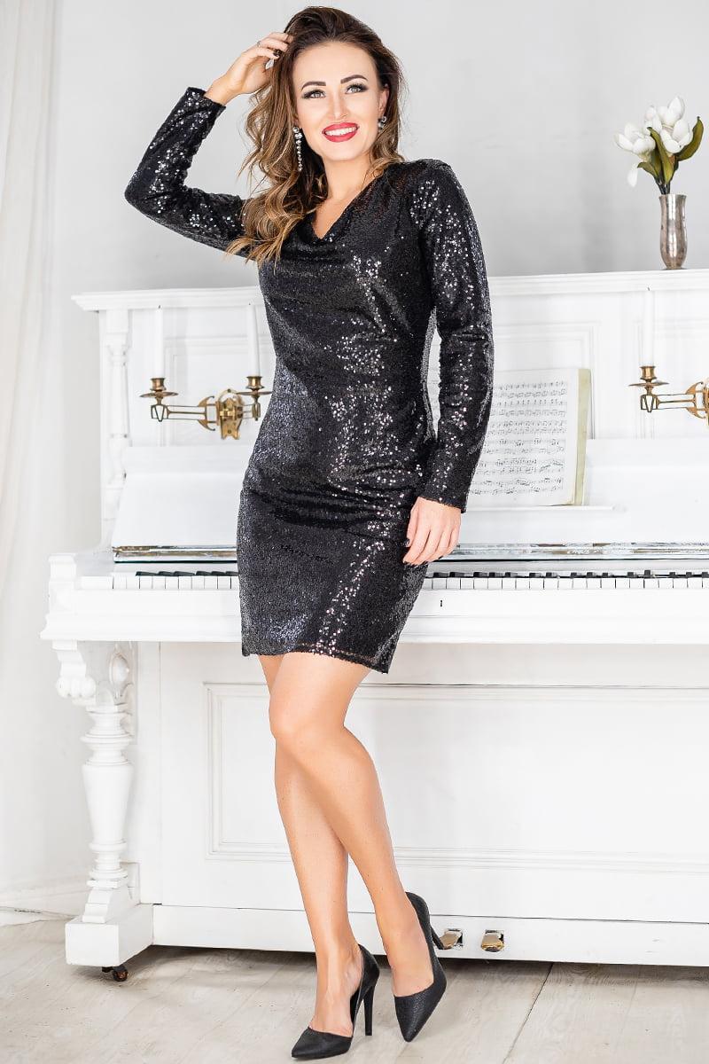 Черное красивое платье на вечеринку Блиц