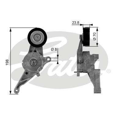 Натяжной ролик AUDI A3 (8P1) / VW TRANSPORTER V фургон / VW TOURAN (1T1, 1T2) 1995-2015 г.