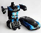 Радиоуправляемая машинка-трансформер Большая Transforms Changeable Lamborghini Красная 1 к 12, фото 3