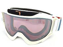Гірськолижна маска CEBE – LEGEND L ski snow Goggles WHITE / GREY-RED/ Rose Flash Mirror Cat.2 CBG44