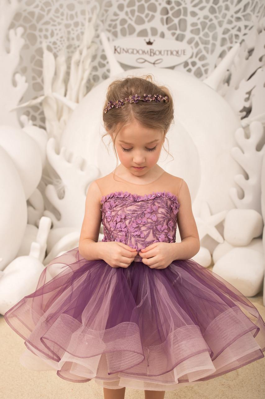 Платье пышное детское нарядное короткое