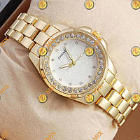 Часы Chanel crystal Gold/White