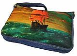 Джинсовая сумка АЛЫЕ ПАРУСА, фото 2
