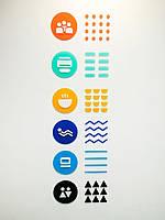 Акрілова вивіска - табличка вказівник -  об'ємні букви