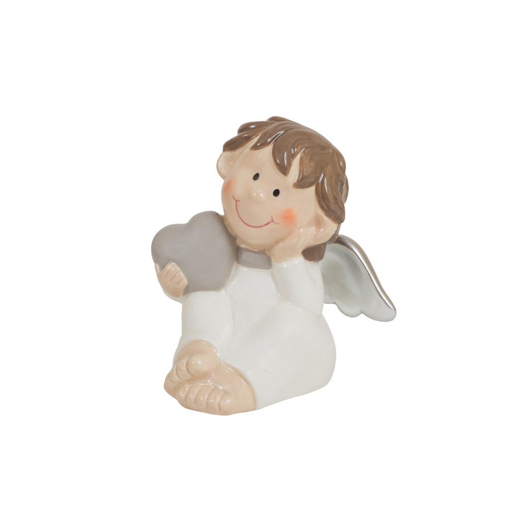 Фигурка Ангел с сердцем белый 9см 107860