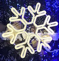 Снежинка НЕОН Тепло белая 40СМ Уличная