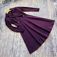 Женское,стильное,строгое платье Миранда,ткань плотная замша на дайвинге, р. ️ 42,44,46 слива,сукня