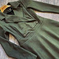 Женское,стильное,строгое платье Миранда,ткань плотная замша на дайвинге, р. ️44,46,52 оливка,сукня