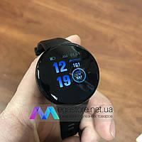 Умные смарт часы Smart Watch Folem D18 с функцией тонометра круглые черные
