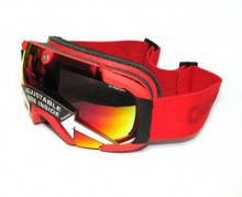 Гірськолижна маска жіноча CEBE – LEGEND L ski snow Goggles GREY-RED Rose Flash Mirror Cat.2