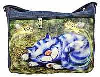 Джинсовая сумка КОТОСНЫ, фото 1