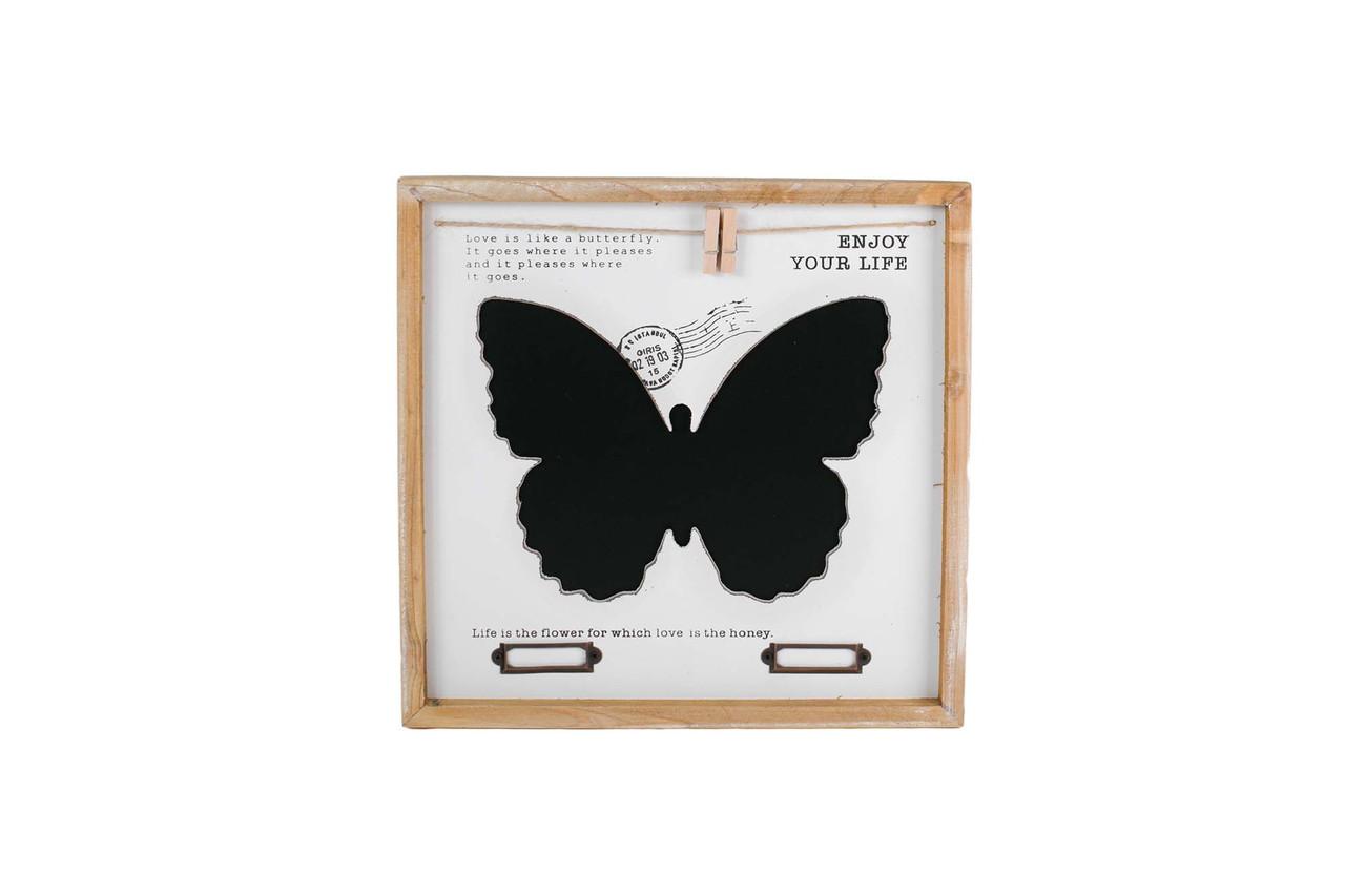 Доска для записей бабочка 30см 105657