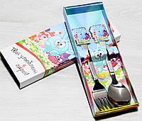 Набор Детских Столовых Приборов (ложка+вилка) Смешарики, фото 1