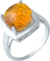 Серебряное кольцо SilverBreeze с янтарем (1922354) 18 размер