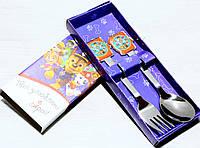 Детские столовые приборы  Щенячий Патруль набор ложка и вилка, фото 1