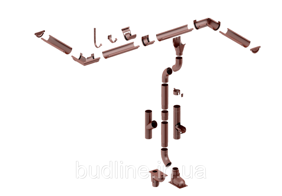 Металева водостічна система Flamingo, система 125/90