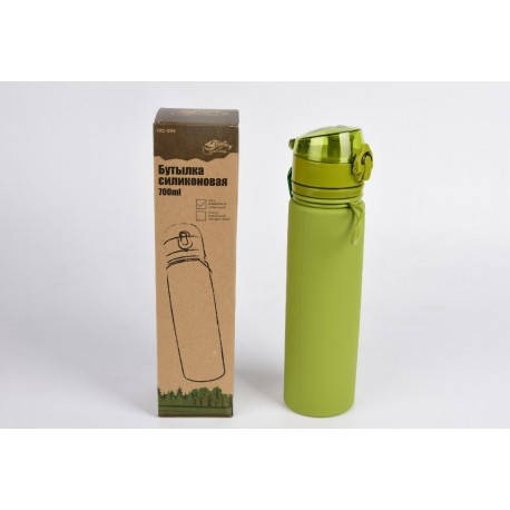 Пляшка силіконова Tramp 700ml olive, фото 2