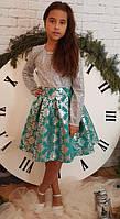 Яркое стильное платье Миранда мята(р.40) рост 146