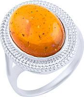 Серебряное кольцо SilverBreeze с янтарем (1891216) 17 размер