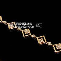 Браслет из медицинского золота. Позолоченный браслет
