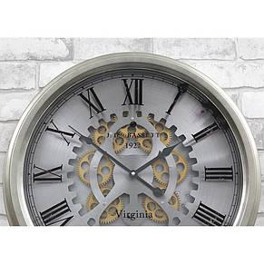 Настенные часы из металла и стекла  53x9 см Retro Silver, фото 3