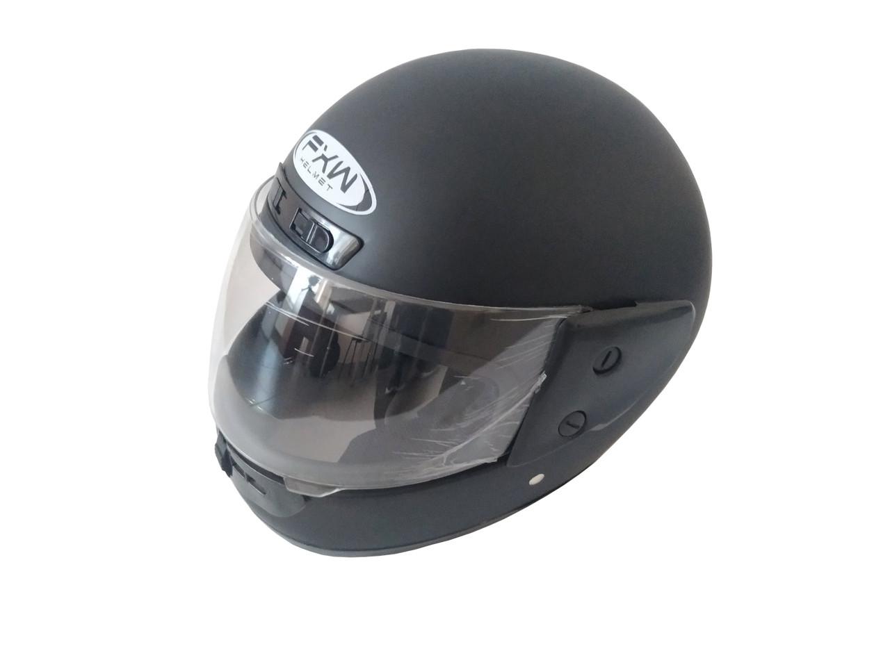 Шлем HF-101 Закритый/Черный(матовий) Размер: S