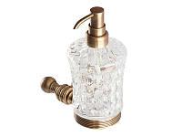 Дозатор для жидкого мыла KUGU Hestia antique 914A (латунь, бронза, стекло)(Бесплатная доставка  )
