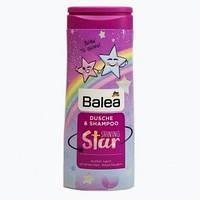 Balea Kids Dusche & Shampoo 2in1 for girls Shining Star Детский Шампунь и Гель для Душа для девочек 2в1, 300мл