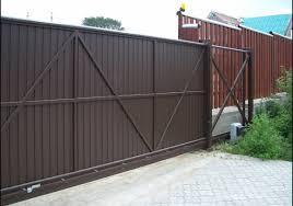 Откатные ворота из профлиста