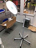 Лампа лупа Led напольная на колесиках от сети для косметолога, визажиста, мастера маникюра, высота 1.65м
