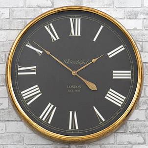 Настенные часы из металла и стекла  80x10 см Retro Golden, фото 2
