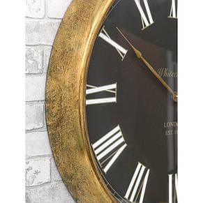 Настенные часы из металла и стекла  80x10 см Retro Golden, фото 3