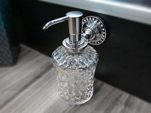Дозатор для жидкого мыла KUGU Swan 414C (латунь, хром, стекло)(Бесплатная доставка  ), фото 2