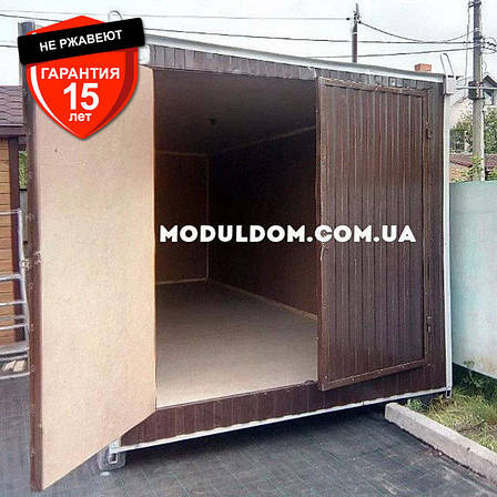 Хозблок под склад (6 х 2.4 м.), металлический каркас, фото 2