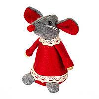 Символ 2020 года - Крыса в платье 031 NV (13*6 см), серая