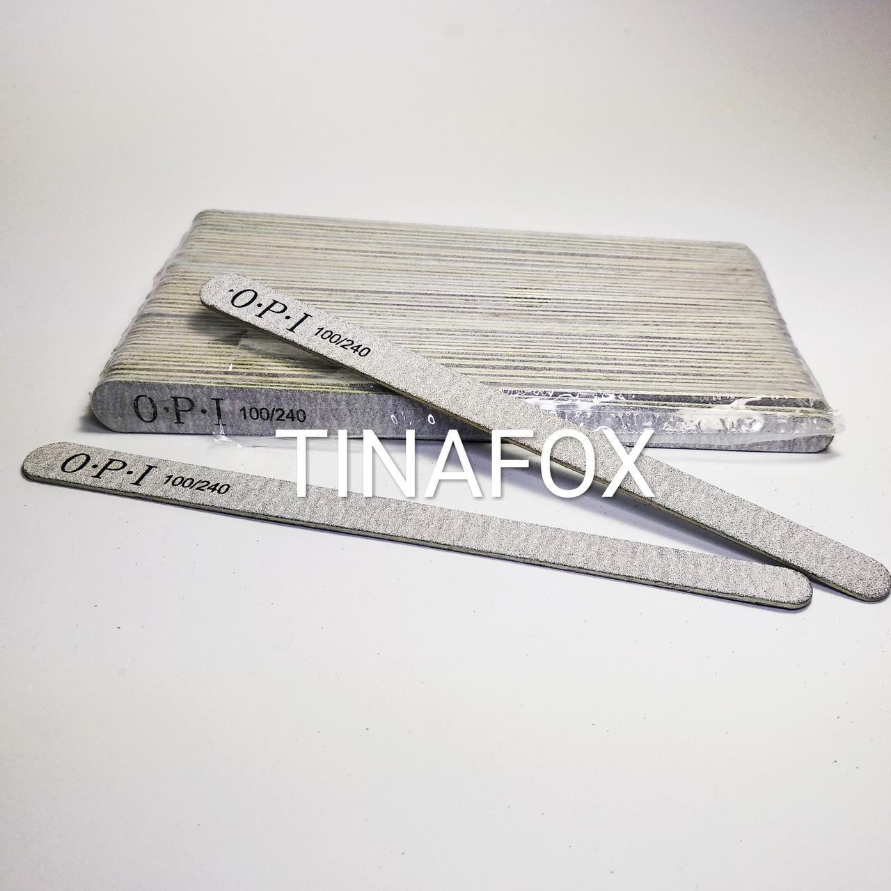 Пилочки для ногтей овальные OPI 100/240 грит, (50 шт)