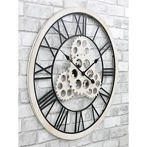 Часы настенные металлические в стиле лофт - Wooden Gears 70 cm, фото 3
