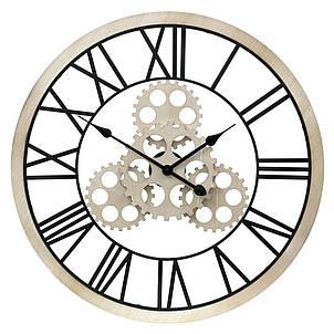 Часы настенные металлические в стиле лофт - Wooden Gears 70 cm, фото 2