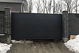 Откатные ворота Platogor 3000x2000 въездные самосварные, фото 4